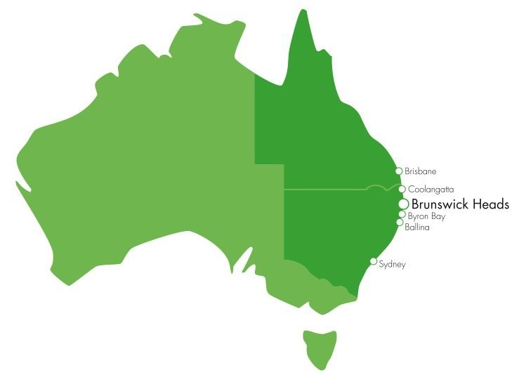 maps of brunswick heads and surrounds